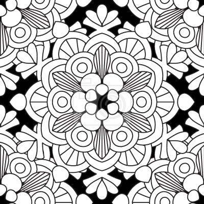 Tapeta Kwiatowe Patrząc Mandala