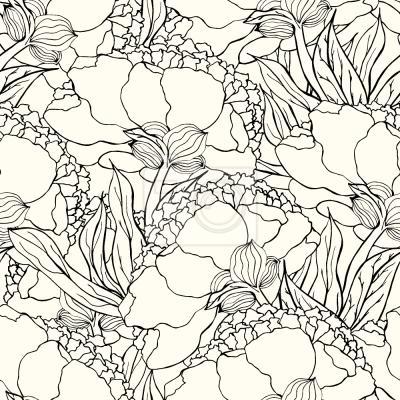 Tapeta Kwiaty Art Nouveau