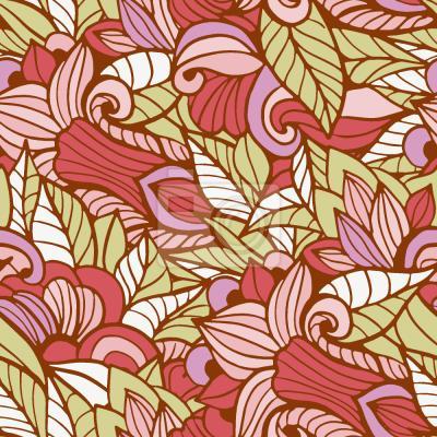 Tapeta Kwiaty Liście