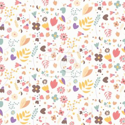 Tapeta Kwiaty Rysowane ręcznie