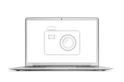 Tapeta Laptop na białym.