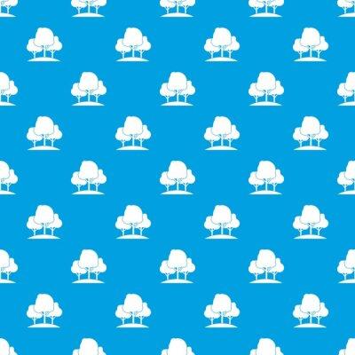 Tapeta Las drzewa wzór bez szwu niebieski
