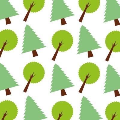 Tapeta las sosnowy liści drzewa ekologia bezszwowych wzór obraz ilustracji wektorowych