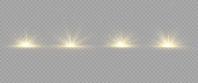 Tapeta Light effect explosion sun, glitter spark flash.