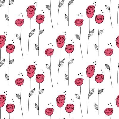 Tapeta Little Rose bezszwowe tło. Ilustracja wektorowa.