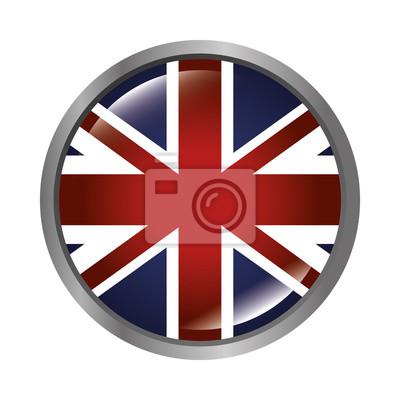 Tapeta london city flag w kształcie okręgu. Brytyjski symbol. ilustracji wektorowych