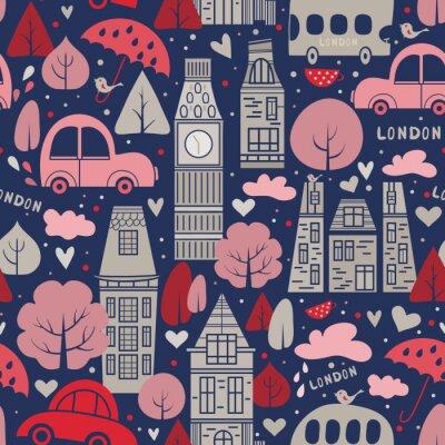 Tapeta London pattern seamless design graphic
