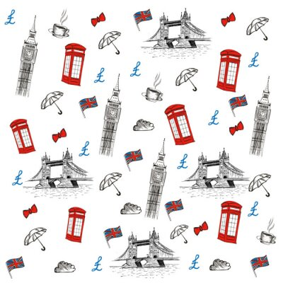 Tapeta London szkic