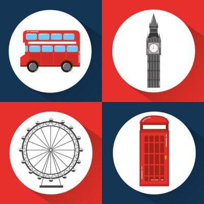 Tapeta Londyn anglia toruism podróż punkt orientacyjny symbol ilustracji wektorowych
