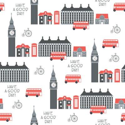 Tapeta Londyn retro wektor wzór