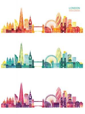 Tapeta Londyn skyline. Ilustracji wektorowych