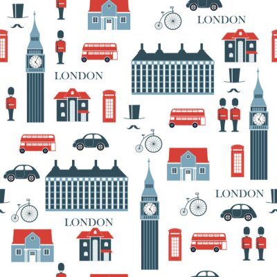 Tapeta Londyn wektor wzór