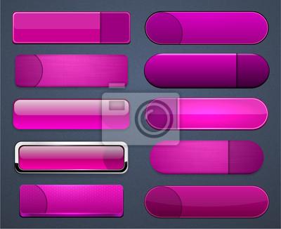 Tapeta Magenta wysokiej szczegółowe nowoczesne sieci web przycisków.