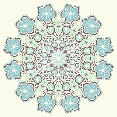 Tapeta Magiczna zima Mandala