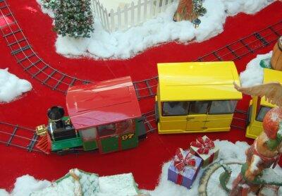 Mall Christmas Shopping Train Ride