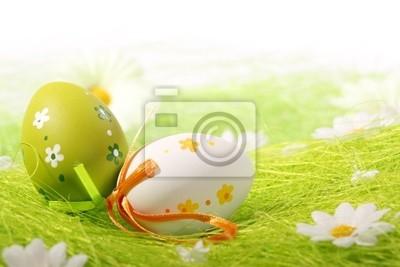 Malowane Kolorowe jaja wielkanocne