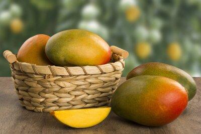 Tapeta mango on a wood background.
