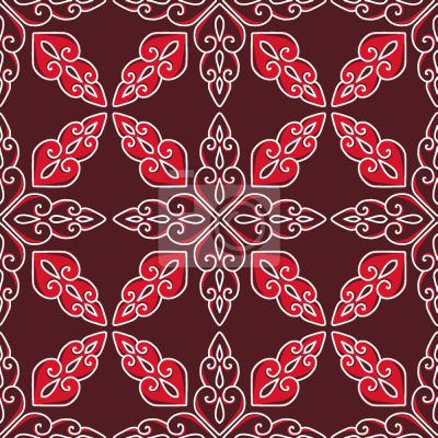 Tapeta Marokański Czerwony
