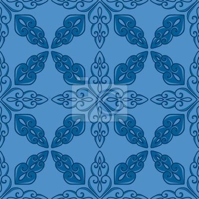 Tapeta marokański Niebieskie