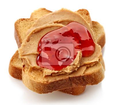 Masło orzechowe jelly sandwich