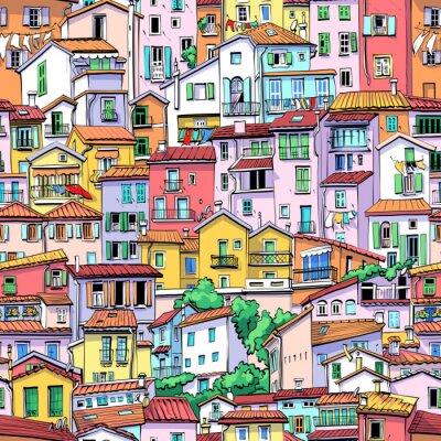 Tapeta Menton Old Town, France