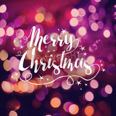 Merry Christmas karty, etykiety tekstowe słodkimi ręcznie rysowane gwiazda elementów na jasnym tle bokeh. Idealny do świątecznych pozdrowień, plakat Boże Narodzenie lub internetowych.
