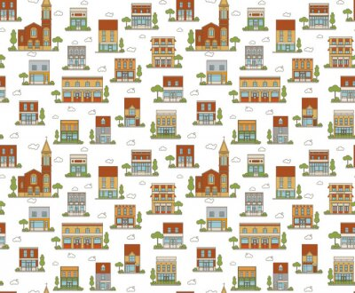 Tapeta Miejskie Seamless Pattern