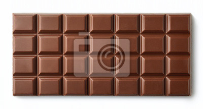 Milk Chocolate Bar wyizolowanych na bia? Ym tle