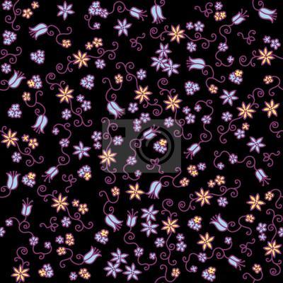 Tapeta Mille Fleurs Noir