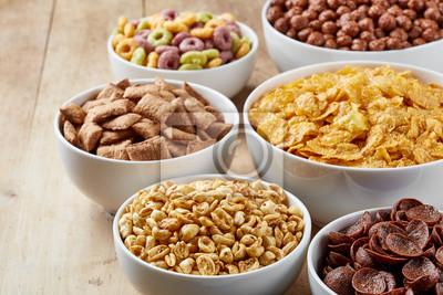 Miseczki różnych zbóż