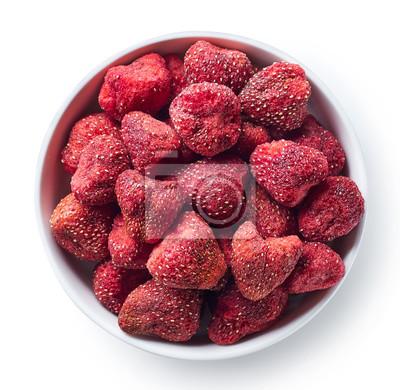Miska liofilizowanych truskawek