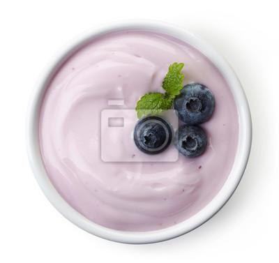 Miska z jagód jogurt