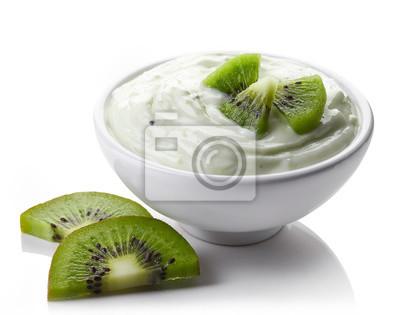 Miska z kiwi jogurt