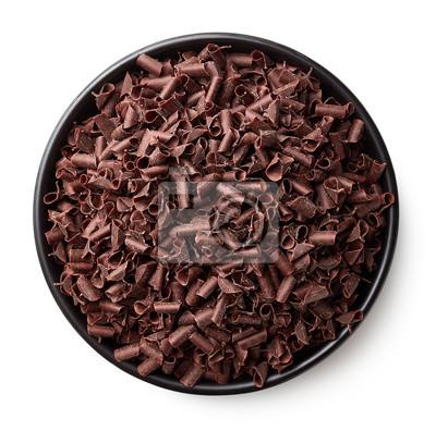 Miska z wiórkami czekoladowymi
