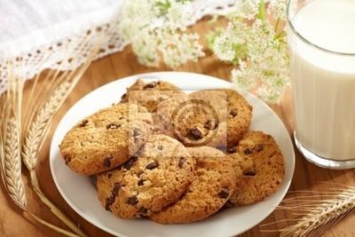 Mleko i ciasteczka