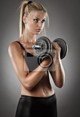 Tapeta Młoda kobieta temu treningu lekkoatletycznego