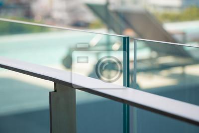 Tapeta modern flat metal railing