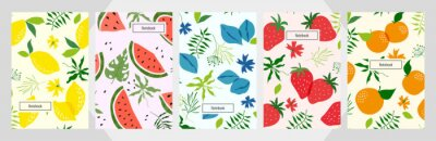 Tapeta Modern template fruit  vector notebook background.