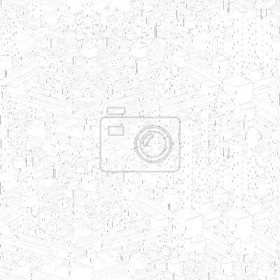 Tapeta Monochromatyczne metro polie