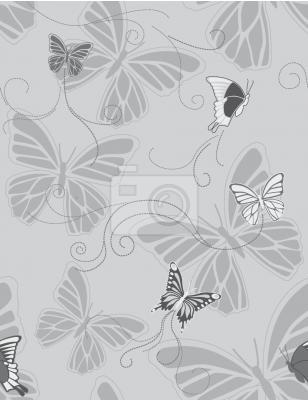Tapeta Monochromatyczne Motyle