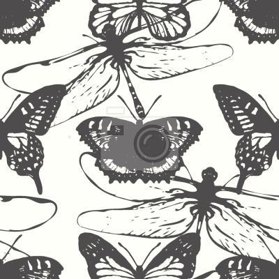 Tapeta Motyle i ważki
