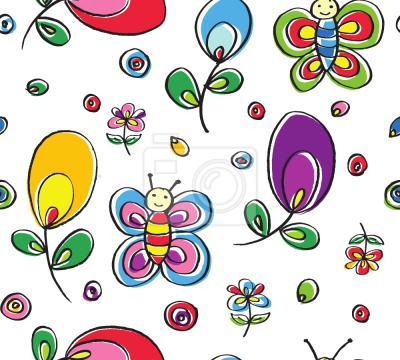 Tapeta Motyle W kwiecistej błogosławieństwo