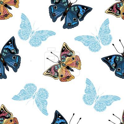 Tapeta Motyle W moim Ogrodzie