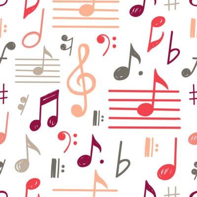 Tapeta Music Notes Vector Seamless Pattern