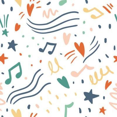 Tapeta Music seamless vector pattern