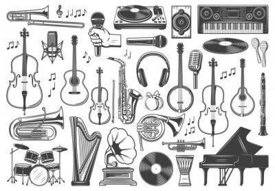 Tapeta Musical instruments, music sound equipment