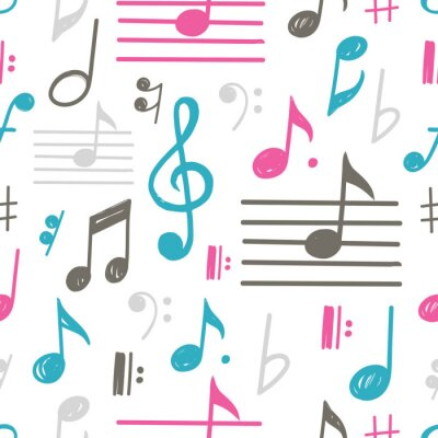 Tapeta Muzyka notatki wektor wzór