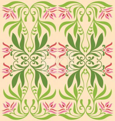 Tapeta Mystic Flora Zielony