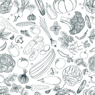 Tapeta natura bezszwowa tekstura z nakreśleniem warzywa dla twój desig