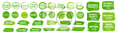 Tapeta Natural, organic product, eco label. Vector
